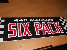 1970 1971 DODGE CHALLENGER CHARGER CORONET 440 MAGNUM SIX PACK AIR CLEANER DECAL
