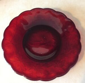 """PRINCESS HOUSE Fantasia RUBY RED 8"""" Plate NEW"""