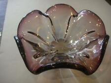 Large MURANO ITALIAN ART GLASS BOWL Mid -Century RETRO 1950'S