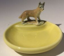 Wade Whimtrays  Dog Pin Dish. Yellow