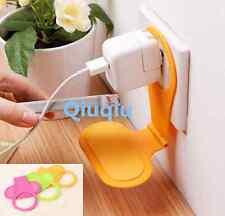 2PCS Mobile Phone Charging Charger Rack Holder Hanger Shelf On Wall Plug Socket