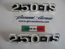 MOTO GUZZI 250 TS SIDE PANEL BADGES  BADGES PAIR-NOS
