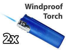 TORCH CIGAR LIGHTER butane flame windproof vintage BLUE