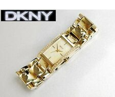 DKNY LADIE'S GOLD CRYSTALS LUXURY COLLECTION SEXY WATCH NY8224
