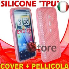 Cover Gel TPU Pink for HTC EVO 3D 3 D silicone