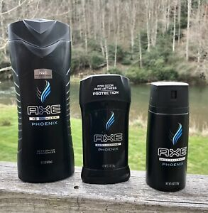 Axe Deodorant Antiperspirant Fragrance Body Spray Wash Phoenix Shower Care Set