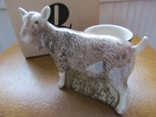 Figurine Of The Toggenburg Goat With Egg Cup Attached By Quail Pottery