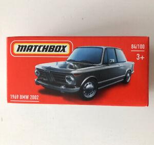 2021 MATCHBOX #84 - 1969 BMW 2002 (Black - Mix 5) 1x Power Grab - New & Unopened