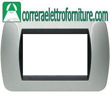 BTICINO LIVING INTERNATIONAL - placca 3 Moduli alluminio L4803AL