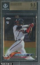 2018 Topps Chrome #193 Ronald Acuna Jr. Braves RC Rookie BGS 9.5 GEM MINT