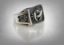 Masonic Mason Shriner Camel Ring Solid Silver Sterling 925 Ezi Zino Jewelry