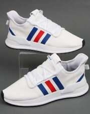 adidas U Path Run Trainers in White, Royal & Red - lightweight runners, 3 stripe