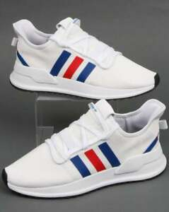 adidas U Path Run Trainers in White, Royal & Red - SALE last sizes