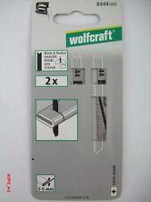 Stichsägeblätter U- Schaft HSS f.Bleche Länge 70 mm wolfcraft 10 Stück