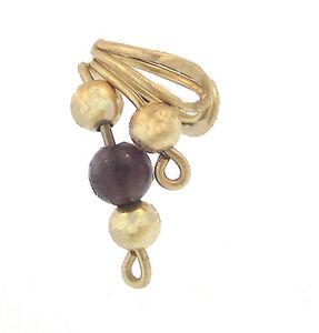 Designs by Da Beads Amethyst Bead Ear Cuff Gold Fill Handmade Earring Purple GF