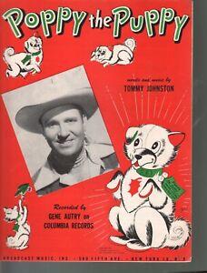 Poppy The Puppy 1951 Gene Autry Christmas Sheet Music