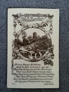 J.Beagles Real Photographic Birthday Postcard With Verse By Burnside