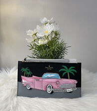 New Kate Spade Checking In Pink Cadillac Car Applique iPhone Wristlet Novelty
