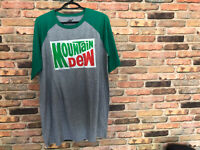Mountain Dew T-shirt Men's Size XL With Graffic Logo Green And Gray