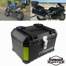 Motorcycle Scooter Rear Top Case Rear Box Black For Harley BMW Triumph 800 1200