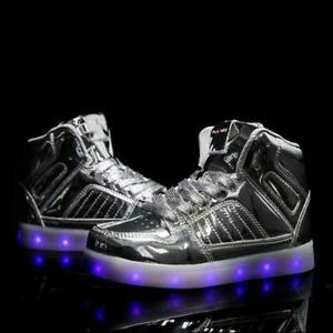 Flashez Silver LED V2 Hi-Tops