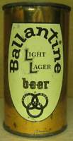 BALLANTINE LIGHT LAGER BEER Bible 144 Flat Top CAN w/ MD TAX LID NEW JERSEY 1958