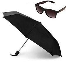 3 Fold Full Size Automatic Umbrella With Black Wayfarer Sunglasses