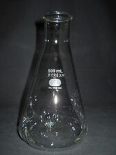 Corning Pyrex Narrow Mouth 500mL Heavy Tooled Rim Baffled Culture Flask, 4450