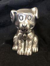 Pewter Dog Money Box Baby Shower Christening Gift Birthday Doggy Puppy Animal
