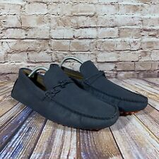Aldo Moccasin Driving Shoes Mens Size 11 Blue Pebbled Fish Hook Flats
