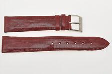 Cinturino in vera lucertola (tejus) misura 18mm, burgundy tejus strap