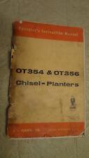 Case OT354 & OT356 Operators Manual