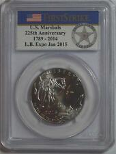 2015 D LB EXPO JAN 2015 US MARSHALS 50C COIN PCGS MS70 FIRST STRIKE