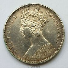 More details for 1849 victoria silver godless florin 2 shilling coin, high grade with good detail
