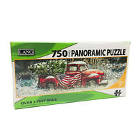 NWT Lang Flag Truck Panoramic Puzzle 38.25x11.25 inches