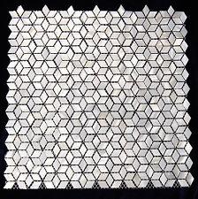 River Bed Nature Pearl Shell Mosaic Tiles  Diamond  White Full sheet