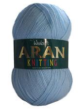 WOOLCRAFT Acrylic Aran Knitting Wool 400g Baby Blue