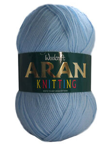 Aran Wool Woolcraft Aran 400g Knitting Yarn, Acrylic Or Wool Mix 40+ Colours