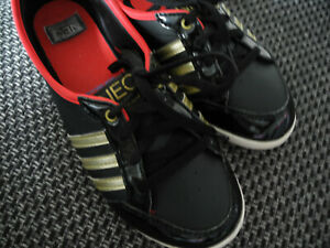 👟Adidas Neo Piona Schwarz/ Gold/ Rot Serie 11/12 Sneaker Ballerina - Sammler