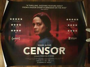 Censor Original UK Quad Cinema Film Movie Poster / 2021 Prano Bailey-Bond BBFC
