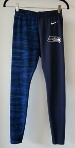 Nike NFL Team Apparel Womens Seattle Seahawks Leggings Small