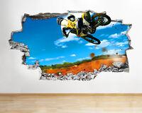 H210 Motocicleta Romperse Adhesivo de Pared Afiche 3d Arte Pegatinas vinilo