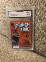 Karl Anthony Towns Crunch Time 2019 Donruss Graded 8.5 Minnesota Timberwolves