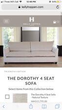 BRAND NEW KELLY HOPPEN black velvet 'dorothy' sofa