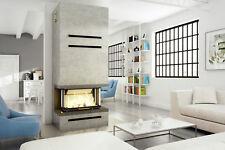 Panoramakamin wunderschönes Design, große Verglasung, großer Brennraum 11kW