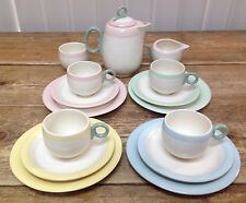 1940's Childrens Child Tea Party Set Homer Laughlin Pastel Eggshell 16 Pcs WOW