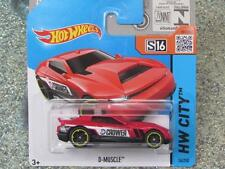"Hot Wheels 2015 # 014/250 d-muscle Rojo ""CROWER"" Hw City Funda Q nueva fundición 2015"