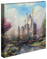 Thomas Kinkade A New Day at the Cinderella Castle 14 x 14 Wrapped Canvas