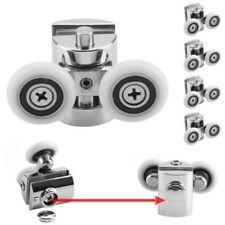 4pcs Shower Door Zinc Alloy ROLLERS 23mm wheel DIA Silver Twin Top Bottom