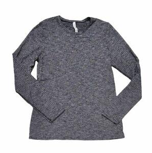 Lululemon Heathered Grey Long Sleeve Women Activewear Top Size 12